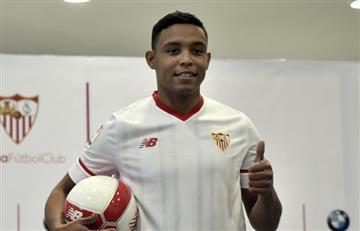 Luis Muriel fue presentado oficialmente como jugador del Sevilla