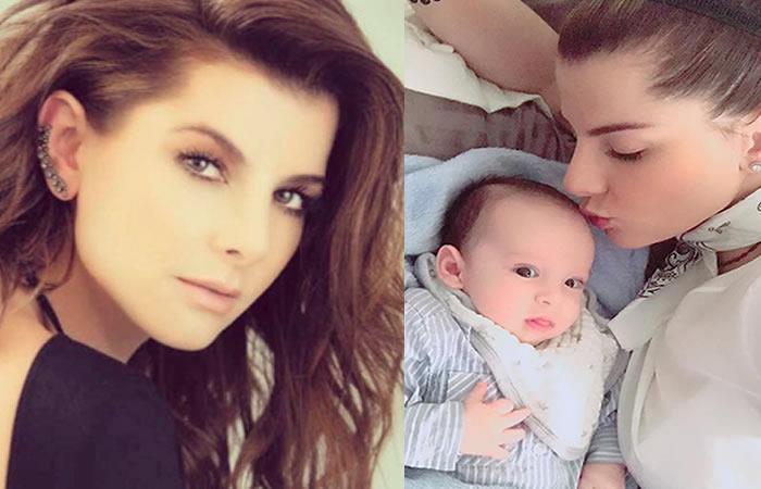 Carolina Cruz y el infalible truco para dormir a su bebé en pocos minutos