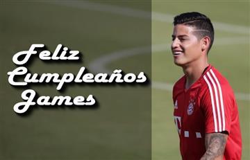 James Rodríguez: Bayern Múnich le desea Feliz Cumpleaños