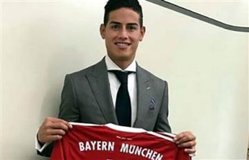 James Rodríguez no usará la 10 en el Bayern Múnich