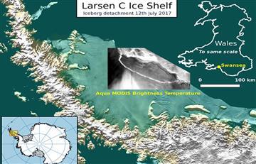 Antártida: Gigantesco iceberg de un billón de toneladas se desprende