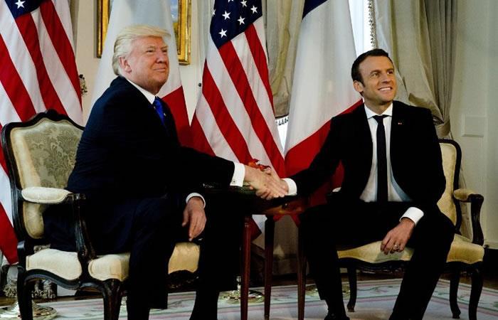 Francia recibe a Trump para su reunión con Macron