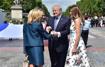 """Trump hace un comentario """"sexista"""" a la primera dama de Francia"""