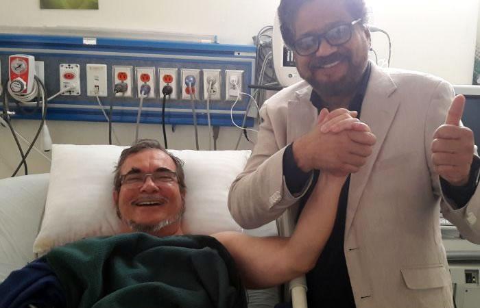 Timochenko junto a Iván Márquez. Foto: Twitter