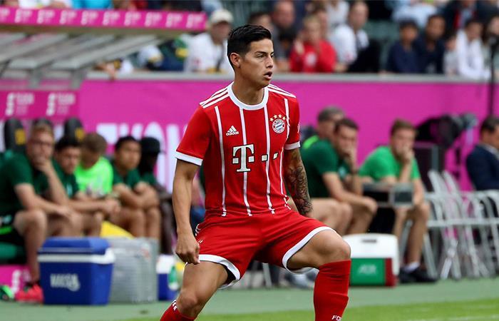 James Rodríguez y su magia en el debut con el Bayern Múnich