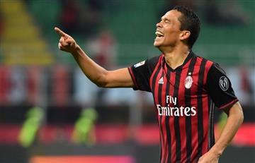 Carlos Bacca vuelve a AC Milan con un golazo al Dortmund