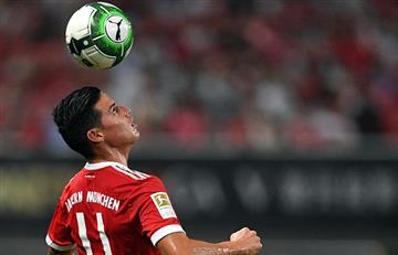 James Rodríguez titular en la derrota del Bayern Múnich ante el Arsenal