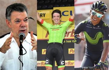 Juan Manuel Santos y su mensaje a Rigoberto Urán y Nairo Quintana