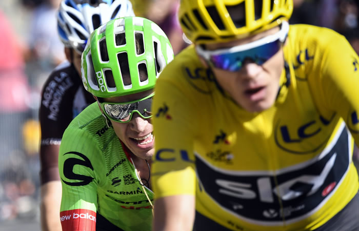 Chris Froome ve a Rigoberto Urán como su mayor amenaza