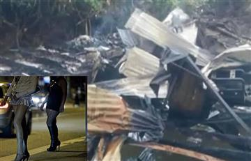 Cauca: Hombre apuñaló a 3 trabajadoras sexuales y luego las incineró