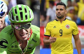 Radamel Falcao felicitó a Rigoberto Urán y mostró su orgullo por él