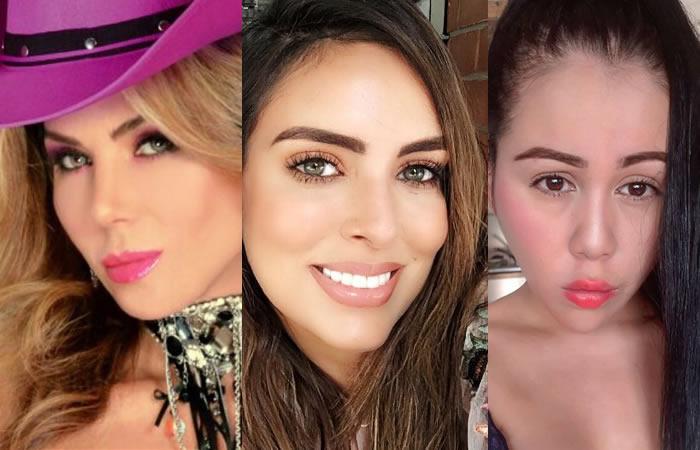 Famosas colombianas que se han hecho cirugías en el rostro