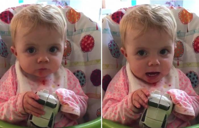 Twitter: Las primeras palabras de una bebé que conmocionan las redes