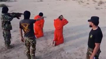 Terroristas del Estado Islámico son ejecutados con su mismo método