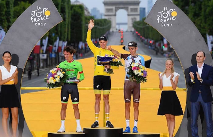 Tour de Francia: Así sonó 'Colombia tierra querida' en París