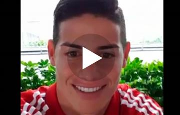 James Rodríguez y el increíble mensaje que le envió a la afición del Bayern