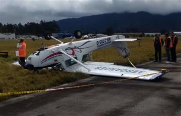 Avioneta se accidentó en Guaymaral, al norte de Bogotá