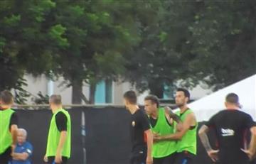 Neymar a los golpes con un compañero del Barcelona