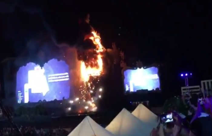 Videos: Incendio en el festival Tomorrowland, en Barcelona