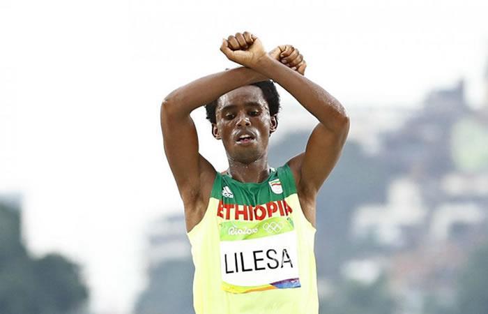 Feyisa Lilesa, el ganador de la Media Maratón de Bogotá