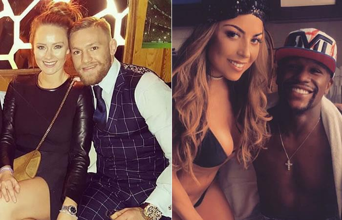 Conor McGregor y Floyd Mayweather: El sexy 'enfrentamiento' entre sus novias