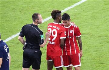 James Rodríguez y el Bayern Múnich perdieron contra el Liverpool