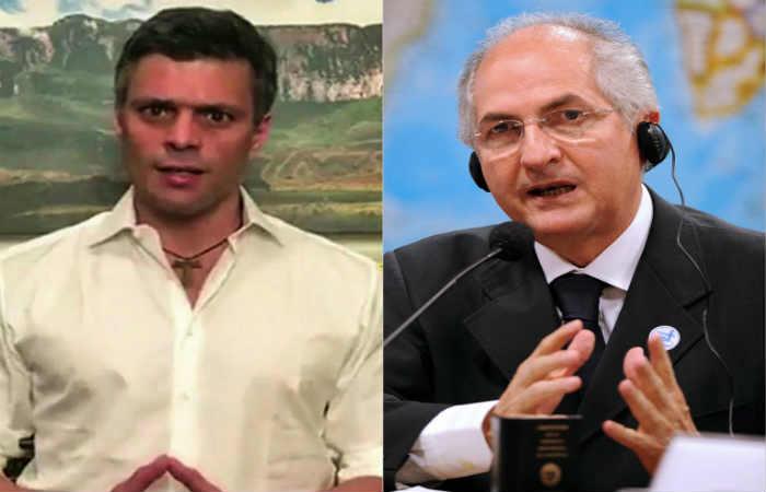 Leopoldo López y Antonio Ledezma vuelven a la cárcel