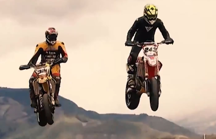 Mundial de Supermoto.Foto:Youtube