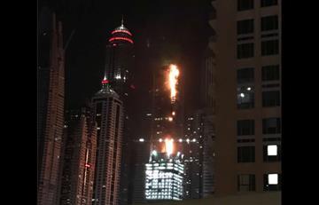Dubái: Impactantes imágenes del incendio que devora un rascacielos