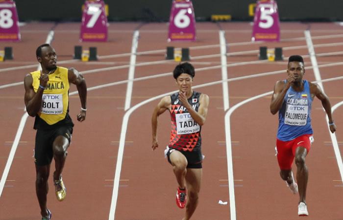 Diego Palomeque, el colombiano que corrió contra la estrella Usain Bolt