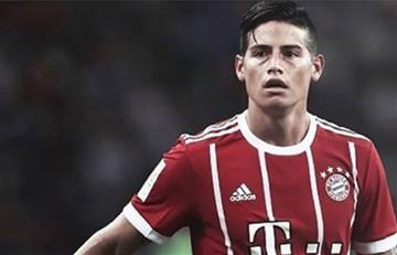 James Rodríguez volvió a aparecer luego de lesionarse con el Bayern Múnich