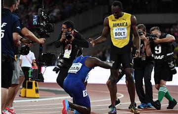 Usain Bolt perdió en su última carrera con Justin Gatlin