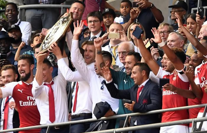 David Ospina y el Arsenal campeones de la Community Shield