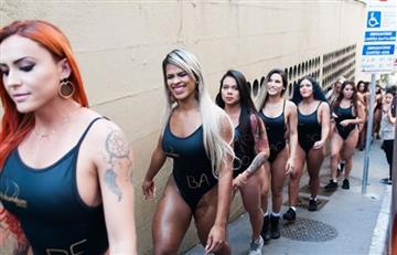 Candidatas a 'Miss Bumbum' causan revuelo en las calles de Sao Paulo