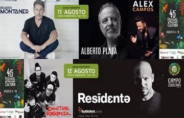 Ricardo Montaner, Alberto Plaza, Alex Campos y Residente en concierto