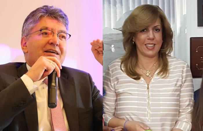 Mauricio Cárdenas y Clara Luz Roldán. Foto: Twitter