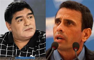 """Maradona a Capriles: """"La diferencia entre vos y yo, es que yo no me vendí"""""""