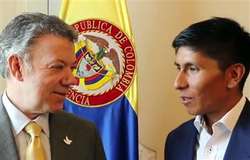 Nairo Quintana y su regalo de cumpleaños a Juan Manuel Santos