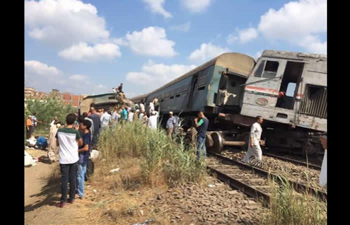 Choque de trenes en Egipto deja varios muertos