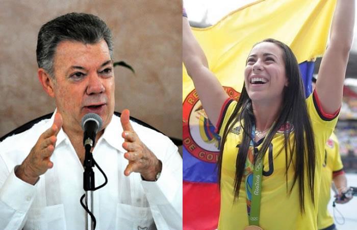 Santos se reúne con Mariana Pajón y este es su compromiso