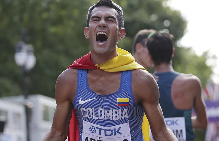 Éider Arévalo, campeón del mundial de marcha en Londres