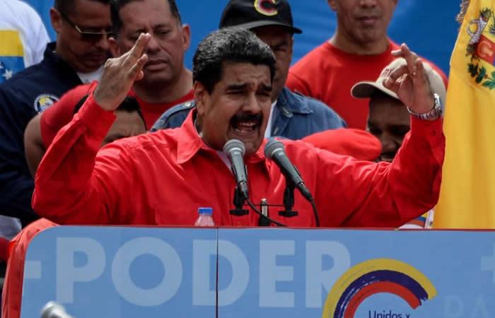 Maduro pidió a los venezolanos defender la paz con tanques y misiles