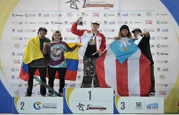 Colombia presente en el podio con su primera selección de Skateboarding