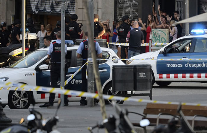 Atentado en Barcelona - 17 de agosto del 2017. Foto:AFP