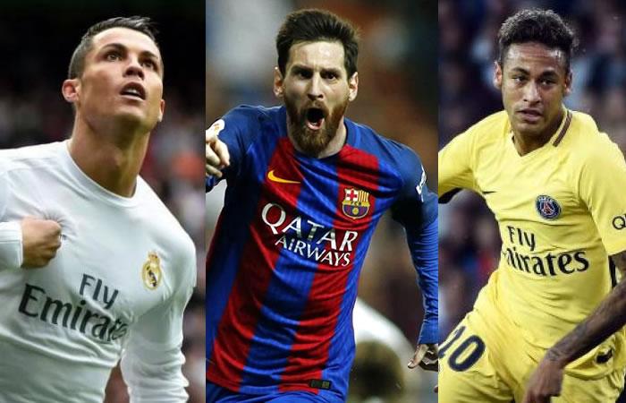 Cristiano Ronaldo, Messi y Neymar comandan los nominados al premio The Best