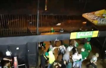 Nacional vs. América: Hinchas se enfrentan a la salida del Atanasio Girardot