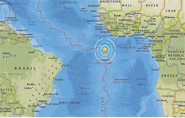 Sismo sacude al sur del Océano Atlántico