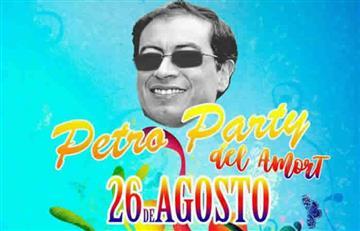 """Gustavo Petro: Organizan """"Petro Party del Amort"""" para financiación de campaña"""