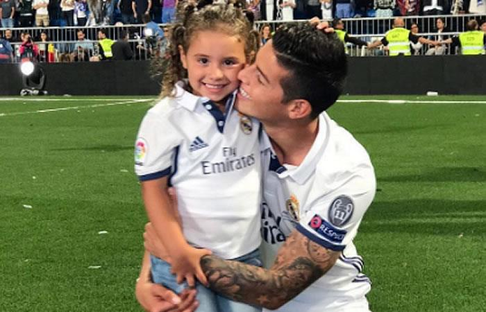 James Rodríguez recibe la visita de su hija Salomé