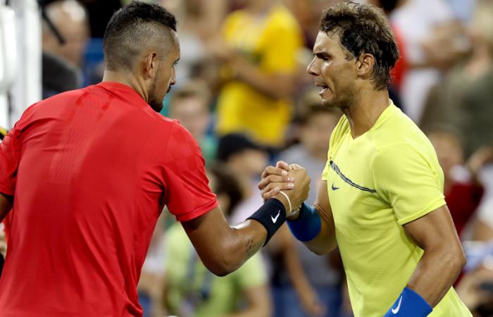 Rafael Nadal pierde contra Kyrgios, Muguruza avanza a semifinales